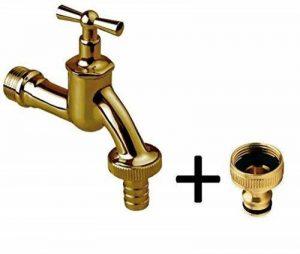 "1/2 "" jardin d'extérieur robinet tuyau eau Union Bib robinet laiton poli + tuyau de jardin prise de la marque GOSHE image 0 produit"