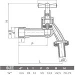 "1/2 "" jardin d'extérieur robinet tuyau eau Union Bib robinet laiton poli + tuyau de jardin prise de la marque GOSHE image 1 produit"