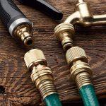 "1/2 "" jardin d'extérieur robinet tuyau eau Union Bib robinet laiton poli + tuyau de jardin prise de la marque GOSHE image 2 produit"