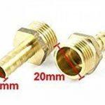 1/2PT mâle à mâle 10mm Tuyau Barb Air Adaptateur Raccord rapide gaz Lot de 6 de la marque Sourcingmap image 2 produit