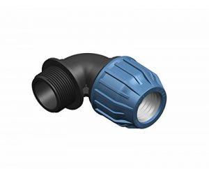 1000Liter '1PP serrage Fittings Coude Raccord à filetage extérieur 25mm, 3/4Raccord de tuyau pour tube PE Eau Potable DVGW PN16 de la marque 1000Liter image 0 produit