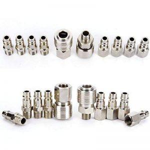 10x raccord coupleur rapide compresseur pneumatique pompe systeme Forme Europeen de la marque Hamimelon image 0 produit
