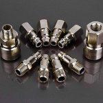 10x raccord coupleur rapide compresseur pneumatique pompe systeme Forme Europeen de la marque Hamimelon image 4 produit