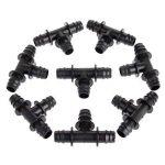 20pcs barbelé Té Connecteurs Micro raccords de tuyau d'arrosage pour 16PE Eau Tuyau Tuyau d'arrosage de la marque Mtsooning image 1 produit