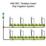 2017 nouveau système d'irrigation Dual Path 360 ° buse rotative avec prise de terre ensemble d'arrosage automatique pour vos jardins, serres, pelouses, plantes, 1 an de garantie (10m, 33FT) de la marque FrideMok image 1 produit