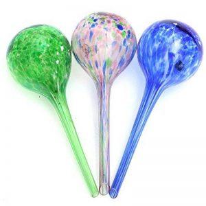3 boules d'arrosage autonomes pour plantesAsentechUK® - En verre - Goutte à goutte (couleur aléatoire) de la marque AsentechUK® image 0 produit