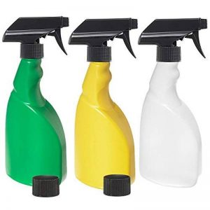3x 500ml Plante Spray bouteilles d'un Lot de 3: Vert, Jaune et naturel HDPE Plastique Flacon pulvérisateur avec 3x anti-fuite, anti-goutte Ergo Déclenchent pulvérisateurs + 2x anti-fuite caches, portable, réutilisable bouteilles multiusage pour brumi image 0 produit