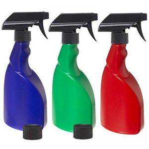 3x 500ml sans BPA pour plantes Vaporisateur bouteilles par Nomara Organics (TM). A Lot de 3: Bleu, Vert et rouge sans BPA HDPE Plastique Flacon pulvérisateur avec 3x anti-goutte, sans BPA, Déclenchent pulvérisateurs + 2x anti-fuite caches, réutilisab image 0 produit