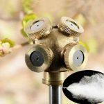 4trous Professional Laiton Spray Brumisateur Buse Jardin arroseurs Raccord de tuyau d'eau connecteur pour jardinage et agriculture de la marque HomeElements image 4 produit