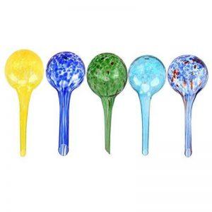 5 PIÈCES Plante Arrosage Globes, WCIC Automatique d'Arrosage Ampoules Décoratif Fabriqué Main Soufflé Verre 6cmX15cm de la marque WCIC image 0 produit