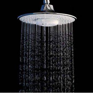 5151buyworld Top Qualité robinet Music Magic pluie Buse de douche Blanc Pommeau de douche Mode Orange de douche de douche Blanc de musique Bluetooth Musique Tête d'arrosage pour salle de bain Cuisine Maison Couvent de la marque 5151BuyWorld image 0 produit