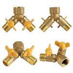 Adaptateur connecteur Robinet à 2 Voies Répartiteur tuyau pour dédoubler robinets en laiton 1/2in Accessoire pour arrosage jardin de la marque Yosoo image 2 produit