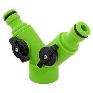 Adaptateur de robinet Parkland à double voies avec valves individuelles et de marche/arrêt de la marque Parkland image 0 produit