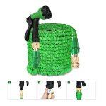 Aibiduo Tuyau d'arrosage extensible Tuyau d'arrosage 30,5m {amélioré} Magic Eau Tuyau d'arrosage double cœur en latex avec fixations en laiton massif et à Buse de pulvérisation (Vert) de la marque AIBIDUO image 6 produit
