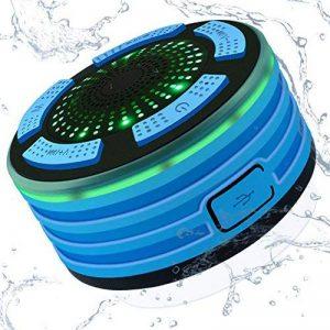 Alitoo Enceinte Bluetooth Étanche Haut-Parleur Sans Fil Portable Radios de Douche avec Radio FM, Lumières LED, Son HD et Basse pour Téléphone intelligent Salle de bain Piscine Plage Cuisine Extérieure de la marque Alitoo image 0 produit