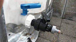 ams196W1359499Bec Adaptateur fiche S60x 6filetage brut avec boule plastique robinet + Convient pour Gardena, IBC Adaptateur de réservoir d'eau de pluie de Accessoires de conteneurs Mamelon de Bidon, tonne, zysterne de la marque CMTech GmbH Monta image 0 produit