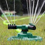 Anteko Gazon Arroseur automatique, rotatif à 360° Arroseur de jardin pour une grande Zone de couverture, motif arroseurs avec aucune fuite d'eau durable 3bras Pulvérisateur, Buse réglable, facile Tuyau Connexion de la marque Anteko image 4 produit