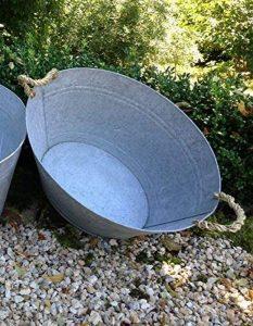 antikas–Baignoire en zinc–Romantique pour lavage en zinc–Baignoire F. agriculteurs jardin de la marque Antikas image 0 produit
