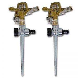 Arroseur à impulsion sur piquet zinc métal 2 pièces de la marque vidaXL image 0 produit