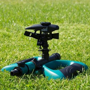 Arroseur Oasis Ahead K-200 Avec Gicleur à Pulsations de Grande Portée Pour Un Arrosage à 360° de Votre Jardin, Valve d'Arrêt, et Base Lestée de Métal et Tête de Gicleur Supplémentaire de la marque Oasis Ahead image 0 produit