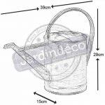 Arrosoir 3 litres en zinc 39x15x29cm de la marque AUBRY GASPARD image 1 produit