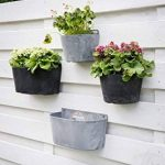 Artstone Pot de fleurs, Suspension murale Claire, résistant au gel et ultraléger, Noir, 24x16x18cm de la marque Artstone image 2 produit