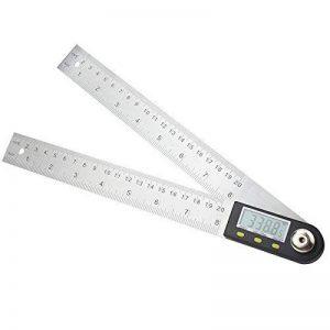 AUA Règle de mesure d'angle Rapporteur numérique de 7 pouces, Règle d'angle en acier inoxydable de 200 mm de la marque AUA image 0 produit