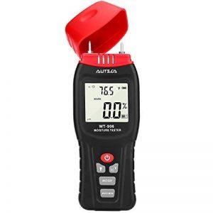AUTSCA Humidimètre en bois de Digital d'humidité avec l'affichage d'affichage à cristaux liquides, 2 sondes de sonde, mètre d'humidité pour des matériaux de construction et plus de 50 genres de boi de la marque AUTSCA image 0 produit