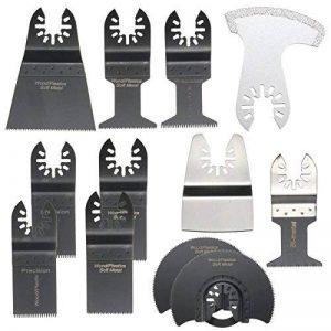 BABAN 12pcs Outil Multifonction Lames Lame Oscillante Outils à Usages Multiples, Facile à Utiliser- Caractéristiques pour Scier, Couper, Racler, Façonner, Polir et Enlever le Coulis de la marque BABAN image 0 produit