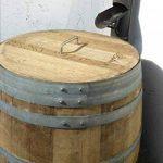 Barrique de vin, Citerne eau de pluie en bois de chêne 225 Litres recupérateur (Tonneau ouvert avec couvercle) de la marque Temesso image 2 produit