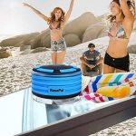BassPal Radios de Douche, Haut-Parleur Bluetooth IPX7 portable entièrement étanche à l'eau avec, super basse et son HD, Haut-Parleur parfait pour plage, piscine, cuisine et maison de la marque image 4 produit