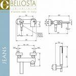 Bellosta 01–4801/à mitigeur extérieur Baignoire/douche avec douchette, chrome de la marque Bellosta image 1 produit