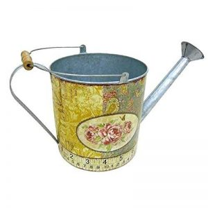 Better & Best 2361102–Arrosoir de boite ronde, avec dessin de roses et mètre à ruban, bleu et jaune de la marque Better & Best image 0 produit