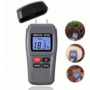 Bois l'humidité Mètre, Dikaou Bois humidité détecteur de testeur avec écran digital LCD, bois de chauffage humidité appareil de mesure, bois hygromètre de haute précision de la marque DiKaou image 0 produit