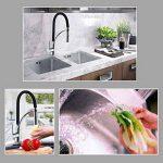 BONADE Mitigeur Douchette Robinet pour Cuisine d'évier à Ressort 360° Rotation Chrome en Laition Noir de la marque BONADE image 6 produit