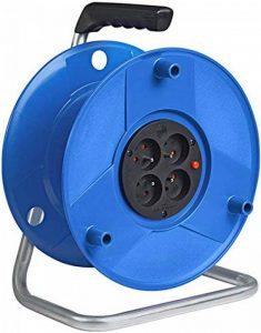 Brennenstuhl Enrouleur de câble vide Standard S, capacité 50 m, tambour vide avec 4 prises & 1 fiche (2P+T 16A/230V~), bleu, Quantité : 1 de la marque Brennenstuhl image 0 produit