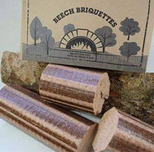 Briquettes de hêtre Normandy - 12kg pour poêle et four à pizza, bois de chauffage, buchettes compressées à combustion lente.Bois de hêtre 100% naturel et écologique de la marque Normandy Briquettes image 0 produit