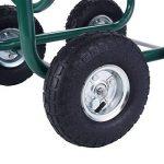 Chariot dévidoir de jardin Tuyau d'arrosage panier pour 76m de tuyau métal de la marque Blitzzauber24 image 1 produit