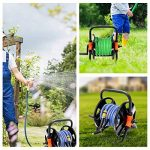 Chariot à tuyau Tvird seringue réglable en continu Enrouleur de tuyau mobile Chariot de tuyau de jardin de la marque Tvird image 1 produit