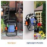 Chariot à tuyau Tvird seringue réglable en continu Enrouleur de tuyau mobile Chariot de tuyau de jardin de la marque Tvird image 2 produit