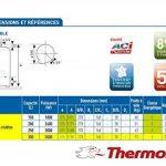 Chauffe-eau Duralis stable/300 L - Diam 575mm - H 1760mm - P 3000W/ACI/292045 de la marque THERMOR image 1 produit