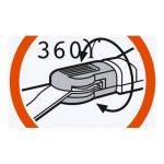 Cisailles à gazon orientables Comfort de GARDENA : cisailles avec tranchants orientables à 360° pour droitiers et gauchers, tranchants dentelés pour une coupe précise, revêtement anti-adhésif, poignée confortable (8734-20) de la marque Gardena image 2 produit