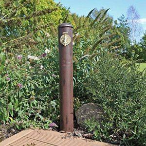 CLGarden WZS1 Colonne point d'eau pour jardin, Robinet d'eau dans un joli look rétro, brun rouillé minable de la marque CLGarden image 0 produit