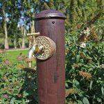 CLGarden WZS1 Colonne point d'eau pour jardin, Robinet d'eau dans un joli look rétro, brun rouillé minable de la marque CLGarden image 3 produit