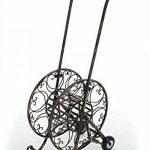 CLP Dévidoir BALKO pour Tuyau d'Arrosage de 50 m en Métal de Style Nostalgique | Chariot Élégant avec 2 Roulettes pour votre Jardin | Porte - Tuyau d'Arrosage bronze de la marque CLP image 2 produit