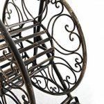 CLP Dévidoir BALKO pour Tuyau d'Arrosage de 50 m en Métal de Style Nostalgique | Chariot Élégant avec 2 Roulettes pour votre Jardin | Porte - Tuyau d'Arrosage bronze de la marque CLP image 4 produit