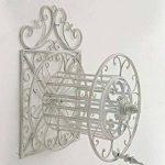 CLP Porte Tuyau Mural ARNOLD, Porte Tuyau d´arrosage en Métal Stabile et Galvanisé, Style nostalgique Ultra elegant, Couleur au Choix: blanc antique de la marque CLP image 2 produit