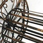 CLP Porte Tuyau Mural ARNOLD, Porte Tuyau d´arrosage en Métal Stabile et Galvanisé, Style nostalgique Ultra elegant, Couleur au Choix: bronze de la marque CLP image 6 produit