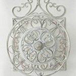 CLP Porte Tuyau Mural ARNOLD, Porte Tuyau d´arrosage en Métal Stabile et Galvanisé, Style nostalgique Ultra elegant, Couleur au Choix: blanc antique de la marque CLP image 3 produit