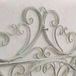 CLP Porte Tuyau Mural ARNOLD, Porte Tuyau d´arrosage en Métal Stabile et Galvanisé, Style nostalgique Ultra elegant, Couleur au Choix: blanc antique de la marque CLP image 4 produit